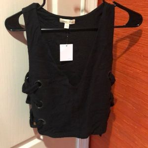Urban Outfitter Silence to Noise Black crop top